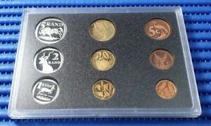 1998-South-Africa-Proof-Coin-Set-Lot-of-9-Coins-by-South-African-Mint