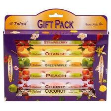 Tulasi Multiple Pack of Six Fruit Scents Incense Sticks (6 x 20 sticks)