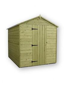 image is loading garden shed 6x7 apex shiplap t amp g - Garden Sheds 6x7