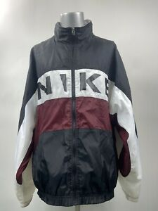 VTG-Nike-Full-Zip-Men-039-s-Sz-XL-Windbreaker-Jacket-Nike-Swoosh-FREE-SHIPPING