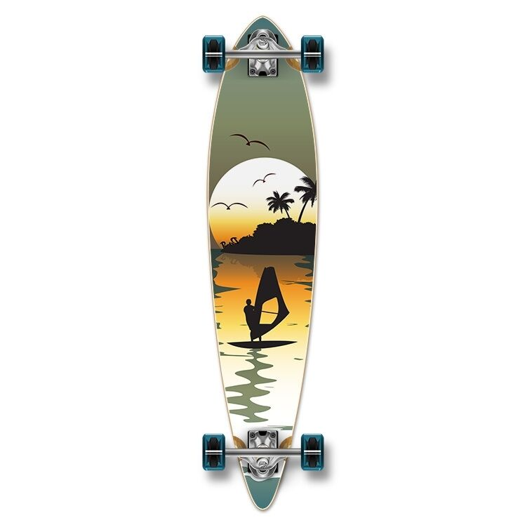 Yocaher Pintail Surfer Longboard Complete
