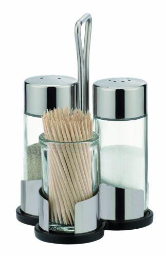 Salt-pepper-toothpicks set CLUB