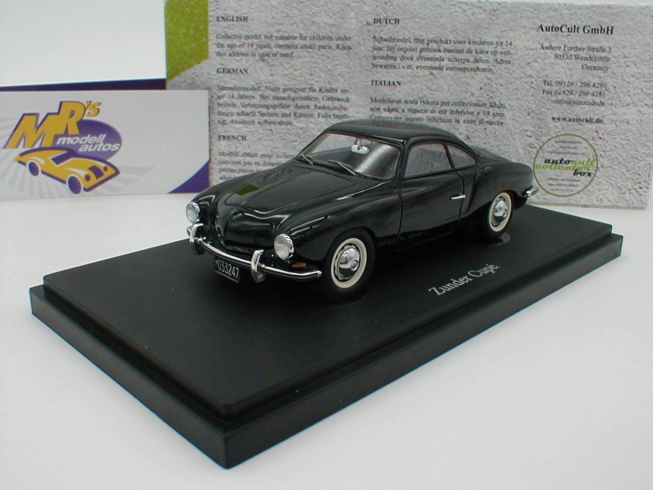 Autocult 05023-CasCocheillas cupe Coupe (Karman) año 1960  negros  1 43 novedad