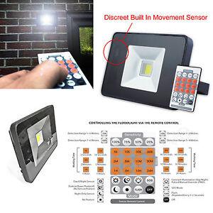 Remote Control Slimline LED Security Outdoor Home Garden Light Microwave Sensor