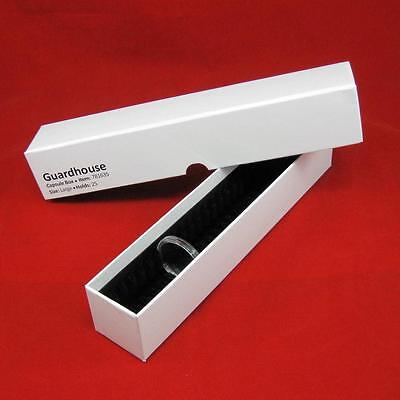25 Silver Dollar Black Ring AirTite Coin Holder with #12 xlg Capsule Storage Box