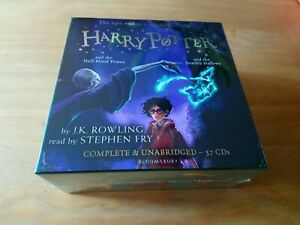 HARRY-POTTER-AUDIO-BOOKS-6-7-J-K-ROWLING-STEPHEN-FRY-UNABRIDGED-37-CD-RRP-144