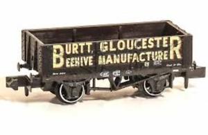 Peco-NR-P484-N-Gauge-5-Plank-Wagon-Burtt-Gloucester