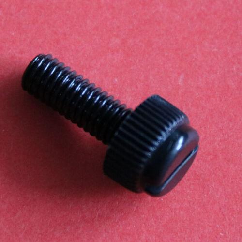Black  Nylon Plastic M3 x 10mm Thumb screws Knurled Slotted Thumb Screw 100pcs