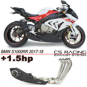 2017-18 BMW S1000RR Cs racing full Scarico Sistema Headers + DB killer 1.5hp)