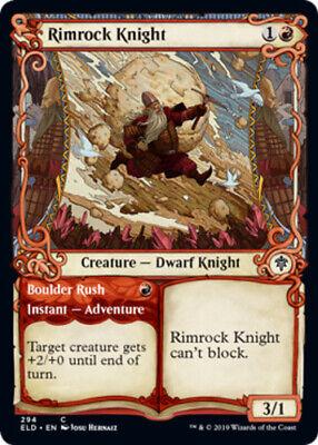 Showcase Rimrock Knight Near Mint Foil English Magic Card Throne of Eldraine MTG