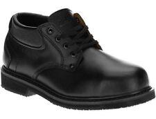 new mens brahama leader black leather steel toe slip resistant shoes size 75 8