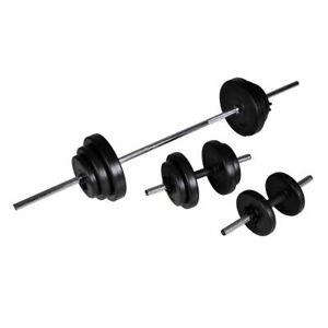vidaXL-Barbell-2-Dumbbell-Set-30-5kg-Workout-Home-Gym-Fitness-Weightlifting