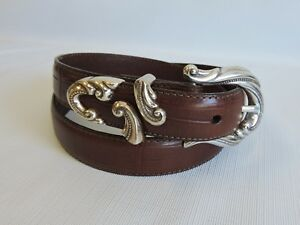 Brighton-Brown-Leather-Belt-Size-034-M-034-Crafted-in-USA-New-without-Tags-A-30