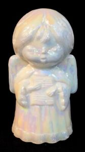 Mosser-Art-Glass-Solid-Singing-Angel-Milk-Carnival-Discontinued-Item