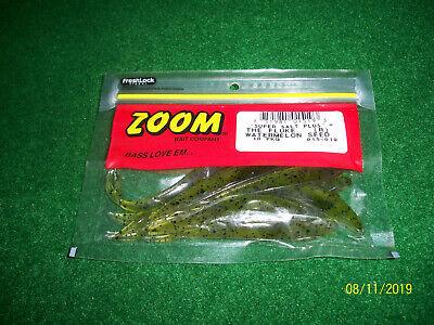 Zoom Super Sel Plus Salty Super Fluke Watermelon slice Bass Fishing Lure 10 ct