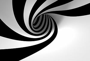 illusion optical hole spiral poster print framed