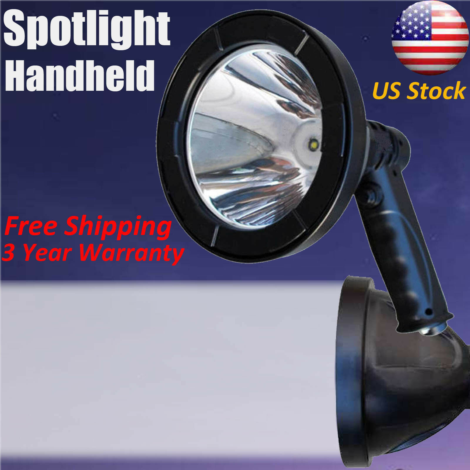 LED 55000Lumen 500W Rechargeable Spotlight Hunting Hand Held  Torch Spot Light US  choices with low price