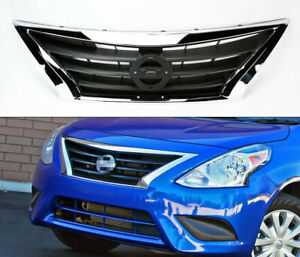 Details about Chrome Front Replacement Upper Hood Grill for Nissan Versa  Sedan 2015-2017