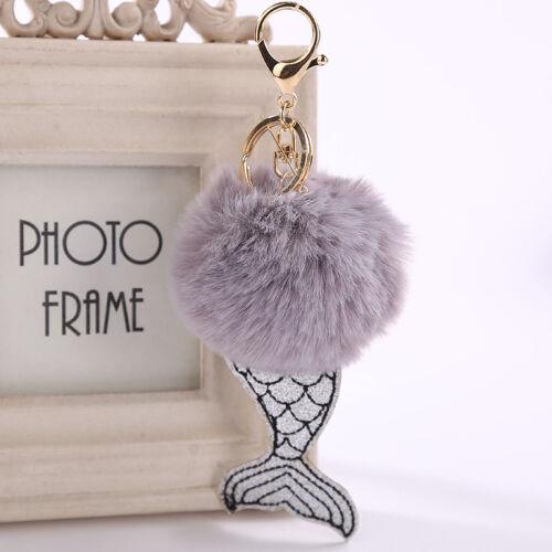 Fashion Mermaid Key Buckle Women Car Handbag Key Ring Charm Xmas Gifts