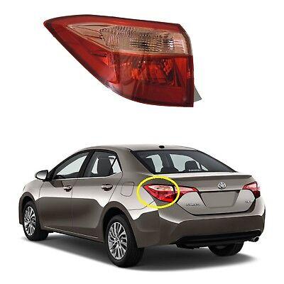 Outer Quarter Panel Mounted Tail Light Lamp RH Passenger Side for Toyota Corolla