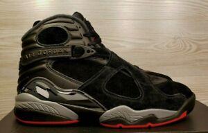 official photos 57eaa b2c8a Image is loading Nike-Air-Jordan-8-VIII-Retro-Bred-Black-