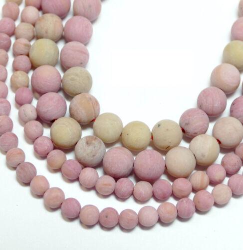 1 Brin #4239 Rhodonit Mat Perles 4-8 mm balles dans Miracle beau vieux rose