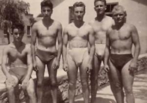 1920s Vintage Beach Men Sun Bathing Photo Repro Surf Swim Dudes