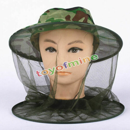 Mosquito Bee Bug Insect Mesh Head Face Protect Fishing Hunt Net Hat Mask Caps