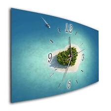 BM Wanduhr leises Uhrwerk Funkwanduhr Quarzwanduhr 7733-1a Strand Meer Steeg