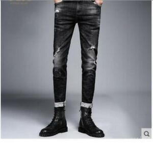 Details about New Men Slim Fit Boot Cut Denim Jean Pants Trousers Nightclub  Fashion Punk Chic