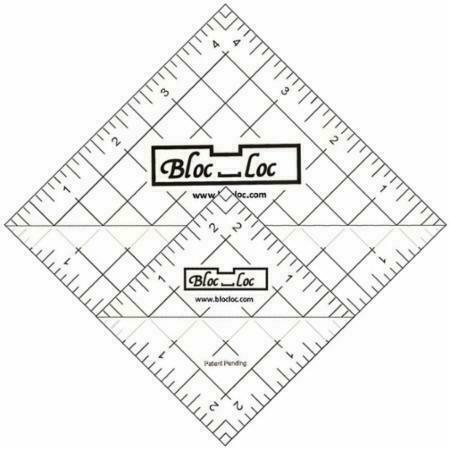 Acrylic Ruler Bloc Loc~12.5 Half Square Triangle Ruler