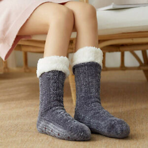 Long Thicken Fleece Lined Socks Women/'s Winter Soft Warm Cozy Fuzzy Xmas Slipper