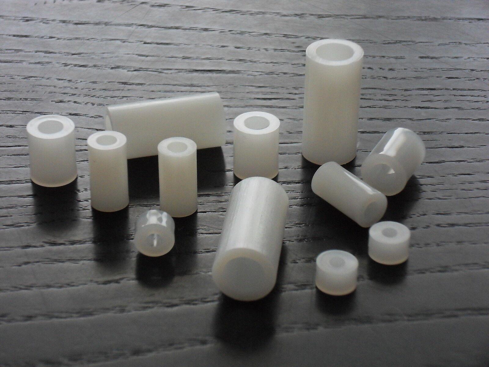 Distanzhülsen Abstandhalter / 8,4mm Innen-Ø aus Kunststoff PA natur