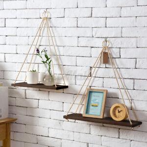 Wooden-Floating-Shelf-Wall-Hanging-Display-Rack-Storage-Rope-Shelves-Home
