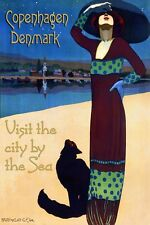Los Angeles California Fashion Lady Girl Beaches Vintage Poster Repro FREE S//H