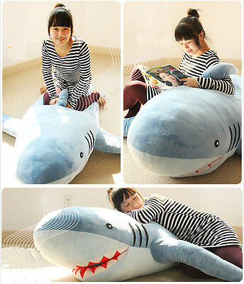 """71"""" HUGE SHARK BIG PLUSH TOY COVER/SHELL ONLY(without stuffing) with zipper 1.8m"""