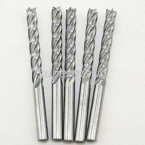 "10x 1//8/"" CNC Bits Single Flute Spiral Router 3.175*17mm Carbide End Mill Cutter"