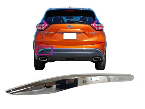 For Nissan Murano Rear Bumper Lower Chrome Molding Left Driver Side 2015-18