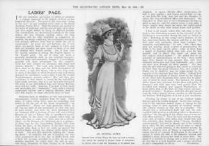 1908-Antique-Print-FASHION-Ladies-Ninon-Corselet-Waist-Cut-Day-Dress-363