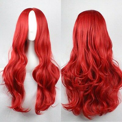 Fashion Women's Full Long Bangs Wavy Curly Wigs Anime Cosplay Party Wig