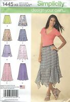 Simplicity 1445 Misses'/miss Petite Dyo Skirt Sewing Pattern