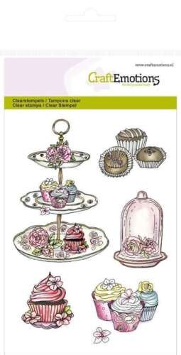 Craft Emotions Clear Stamps  SetA6 HIGH TEA ROSE COLLECTION Reduced