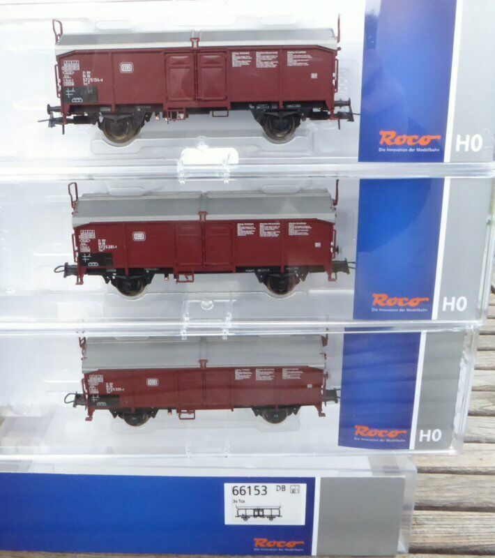 Roco 66153, 3-Piece Set car with sliding roof of the DB Vintage 4 Neuwertig