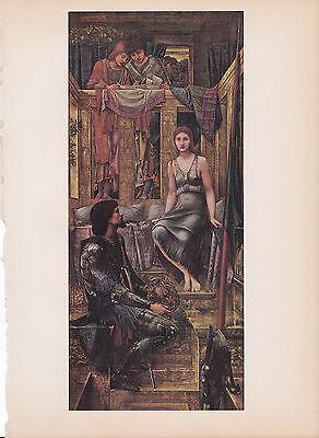 "1939 Vintage /""KING COPHETUA /& THE BEGGAR MAID/"" BURNE-JONES Color Art Plate Litho"