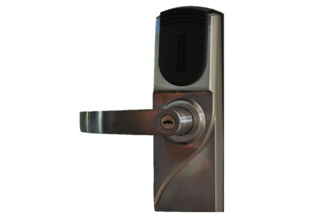 Weatherproof Rfid Card Read Entry Battery Powered Electronic Door