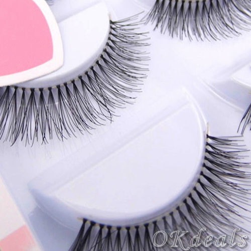 5 Pairs Natural Sparse Cross Eye Lashes Extension Makeup Long False Eyelashes Xi