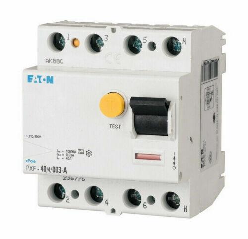 NEUF dans sa boîte Eaton 236776 erreur d/'électricité interrupteur FI Disjoncteur 40 A pxf-40//4//003-a