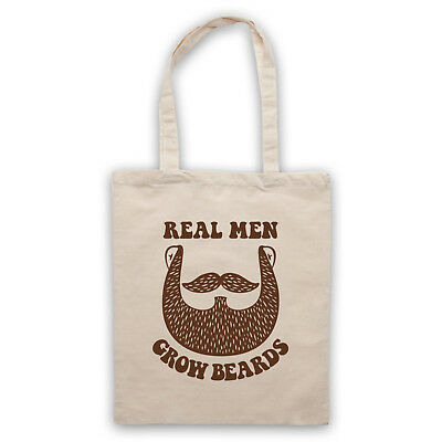 REAL MEN GROW BEARDS FUNNY HIPSTER RETRO COOL JOKE BABY GROW BABYGROW GIFT