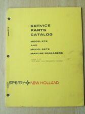 New Holland Model 676 Amp S676 Manure Spreader Service Parts Catalog Manual