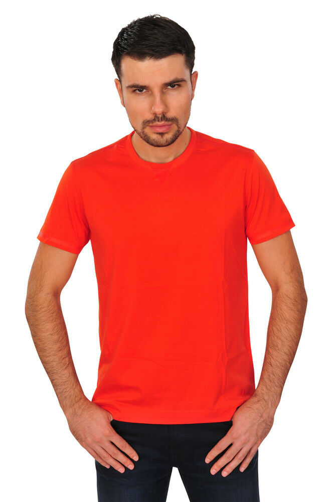 Z Zegna T-Shirt Uomo XL ARANCIONE COTONE COTONE COTONE TINTA UNITA 896d34